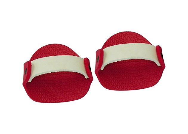 Luvas Musculação em E.V.A Vermelha/Branca Masculino ( Par )