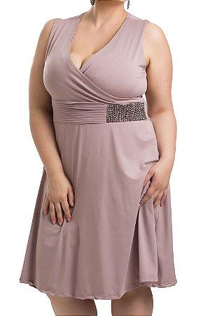 Vestido Charlott Rosa Plus Size