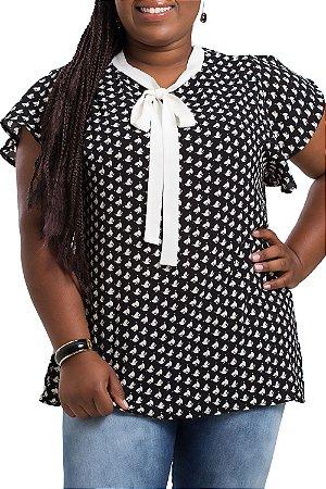 Blusa Charlott Estampada Plus Size