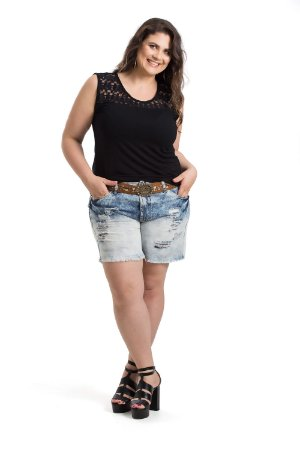 Short Curto Jeans By Unna Plus Size