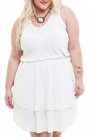 Vestido Tamanhos Nobres Branco Plus Size