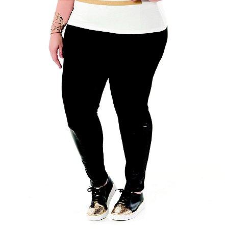 Calça Montaria Neoprene Nolita Preta Plus Size