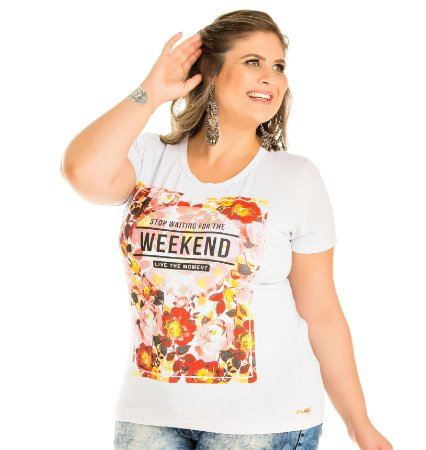 Blusa Viscolycra com Estampa Wind Life Plus Size