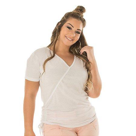 T-Shirt Transpasse Poliviscose Anabela Plus Size