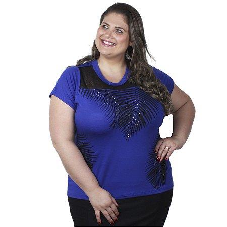 Blusa Viscolycra com decote em Telinha Primaior Plus Size