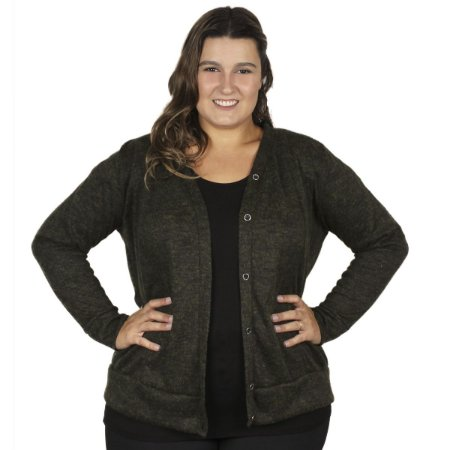 Cardigan Lanzinha Gracia Plus Size