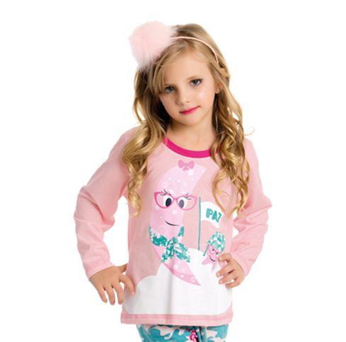 Pijama Infantil feminino estampado Família Bela Notte