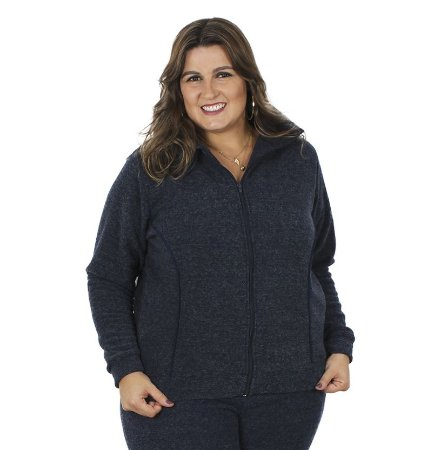 Jaqueta Soft  Peluciado Primaior Plus Size