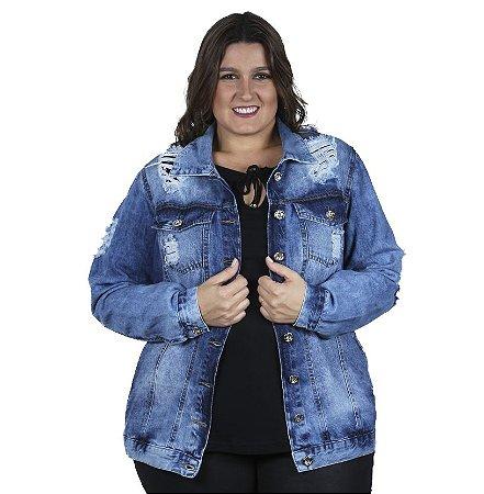 Jaqueta Jeans Oversize Legítima Defesa Plus Size