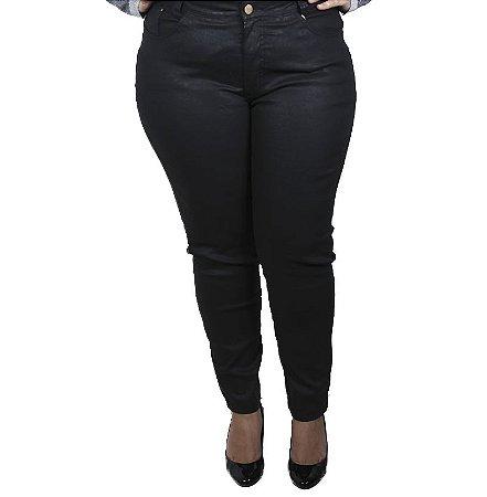 Calça jeans Resinada Xá Doce Plus Size
