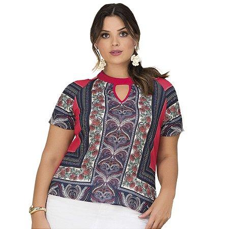 Blusa Modal Lisamour Plus Size