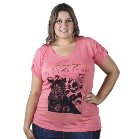 Blusa Estampa Frontal Nolita Plus Size