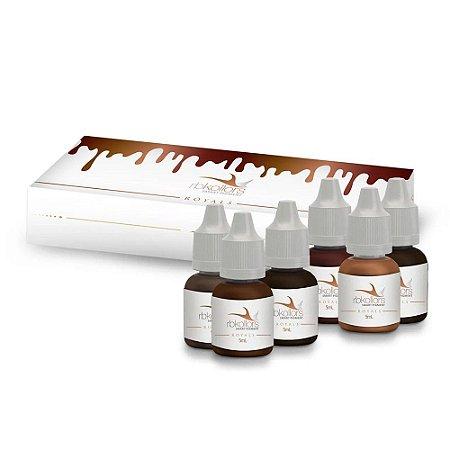 Kit Royals Com 6 Pigmentos de 5ml Para Micropigmentação Rb Kollors
