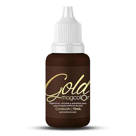 Pigmento Para Micropigmentacao Mag Color Gold 15 ml Castanho Escuro