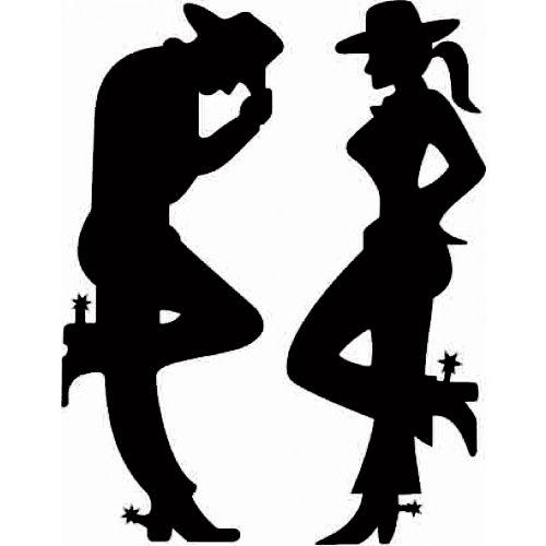 Adesivo Cowboy e Cowgirl SC3712