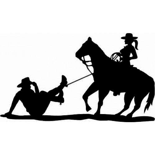 Adesivo Country Cowboy Laçado SC3723