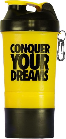 Coqueteleira Conquer your dreams - 500ml - amarela