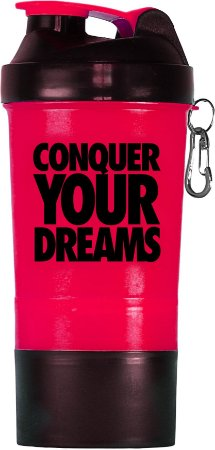 Coqueteleira Conquer your dreams - 500ml - rosa
