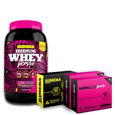 Kit Woman - Iridium Whey Woman + 1 Termogênico Kimera + 2 Soma Pro Woman