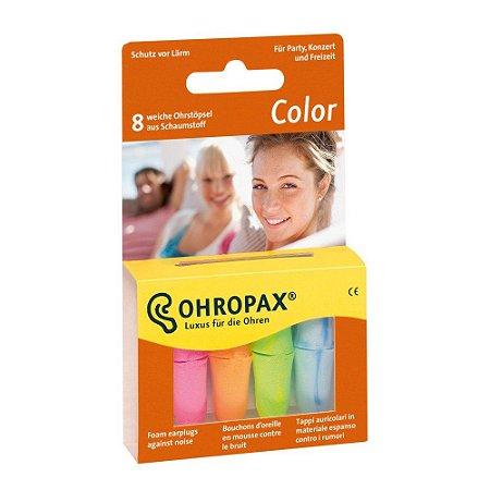 Ohropax Colorido Protetor Auricular de Espuma 4 Pares 35 dB