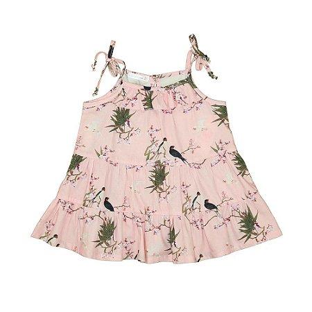 Vestido Infantil de Alcinha com Babados Rose - Um Mais Um