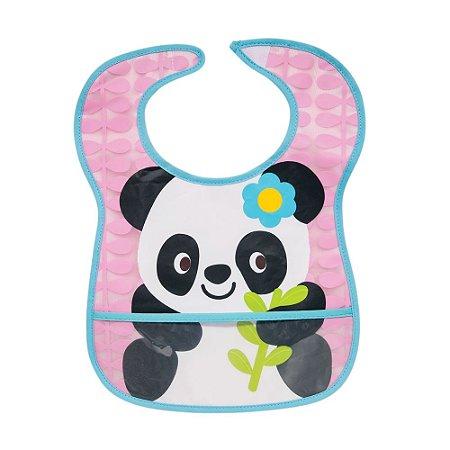 Babador Impermeável com Bolso Coletor Panda - Buba