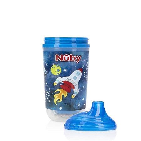 Copo Pisca-Pisca com Bico Rígido 300ml Azul - Nûby