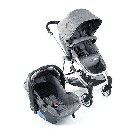 Carrinho Travel System Epic Lite Grey Steel Duo - Infanti