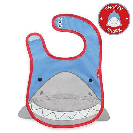Babador Impermeável Linha Zoo Tema Tubarao Snazzy Shark - Skip Hop