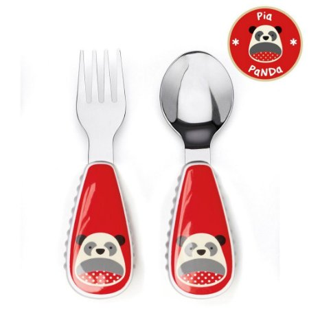 Set de Talher Skip Hop Linha Zoo Garfo e Colher Panda Pia