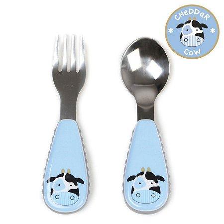 Set de Talher Skip Hop Linha Zoo Garfo e Colher Vaca Cheddar Cow