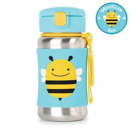 Garrafinha em Inox Skip Hop Linha Zoo Abelha Brooklyn Bee