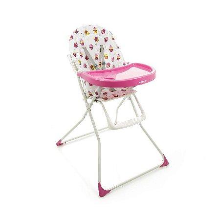 Cadeira de Alimentação Refeição Banquet Rosa Cupcake Cosco