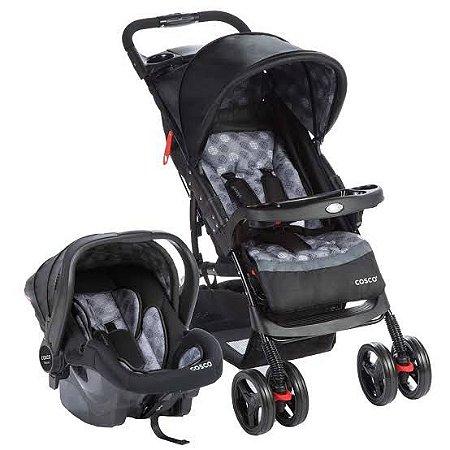 Carrinho de Bebê Travel System Moove Cinza Trama - Cosco