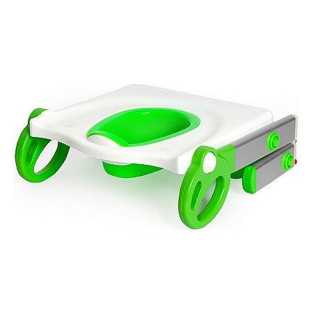 Adaptador de Vaso Sanitário com Escada Toily Verde com Branco