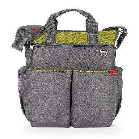 Bolsa Maternidade Diaper Bag Duo Signature Grey Green Charcoal Lime - Skip Hop