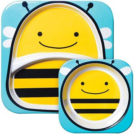 Set de Pratos Skip Hop Linha Zoo Abelha Brooklyn Bee