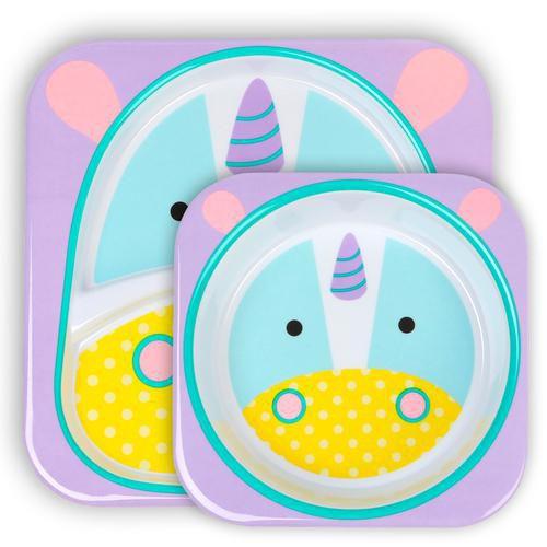 Set de Pratos Skip Hop Linha Zoo Unicornio Eureka Unicorn