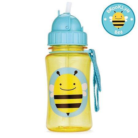 Garrafinha com Canudo Skip Hop Zoo Abelha Brooklyn Bee