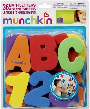 Brinquedo para banho Números e Letrinhas divertidas munchkin