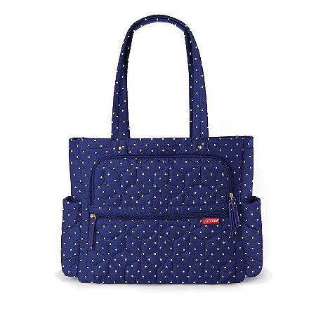 Bolsa Maternidade Diaper Bag Forma Pack & Go Navy Dots - Skip Hop