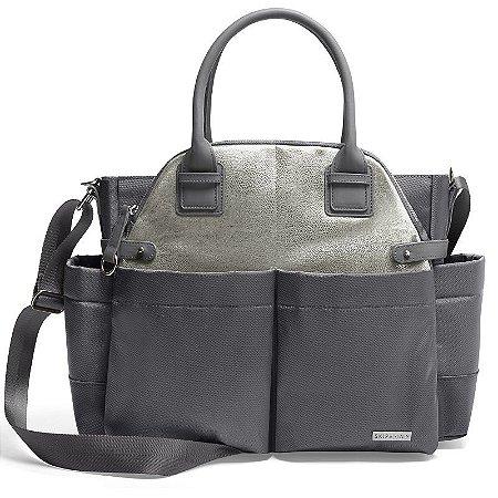 Bolsa Maternidade Skip Hop Diaper Bag Chelsea Charcoal Shimmer
