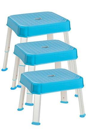Banquinho para Higiene Multitarefas Stooli Azul - Litaf
