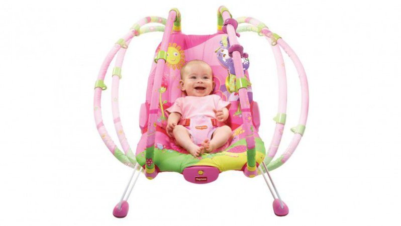 Cadeira de Descanso para Bebe Gymini Bouncer Tiny Princess Rosa - Tiny Love
