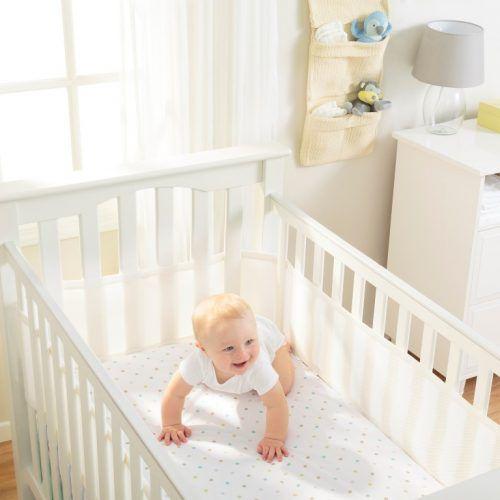 Tela Respirável Protetora de Berço Breathable Baby Branca