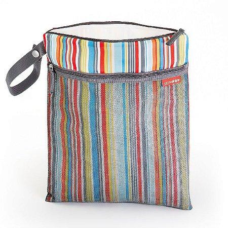 Bolsa Sacola para Roupa Seca ou Molhada (Wet Dry) Skip Hop Metro Stripes