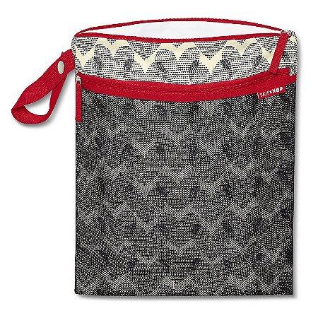 Bolsa Sacola para Roupa Seca ou Molhada (Wet Dry) Skip Hop Hearts Coração