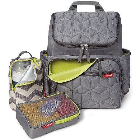 Bolsa Maternidade Skip Hop Diaper Bag Forma BackPack Grey Cinza