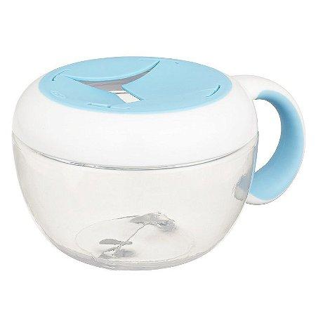 Pote de Lanche com Tampa Removível Infantil FLIPPY SNACK CUP Oxotot 230ml Azul