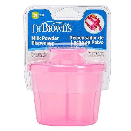 Porta Leite em Pó Rosa Dr Browns